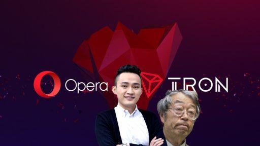 Opera Bitcoin BTC Tron TRX soporte